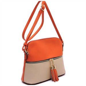 Tassel Zip Dome Crossbody Bag Satchel